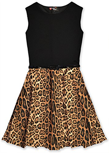 Jolly Rascals Girls Animal Print Skater Dress Animal 11-12 Years (Animal Dress For Kids)