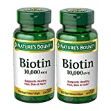 Biotin Supplement, Supports Healthy Hair, Skin, and Nails, 10000mcg, 120 Softgels (2 Pack)