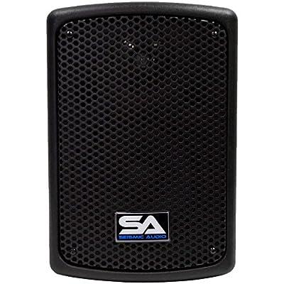 "Seismic Audio - PWS-8 (Pair) - Powered PA/DJ 8"" Molded Speakers - 300 Watts each"