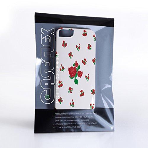Caseflex iPhone 5 / 5S Hülle Rot Rosen Hart Schutzhülle