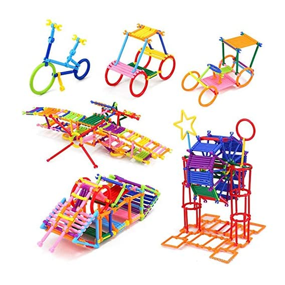 SUPER TOY Building Block Sticks Educational Toy for Kids - 98 Pcs