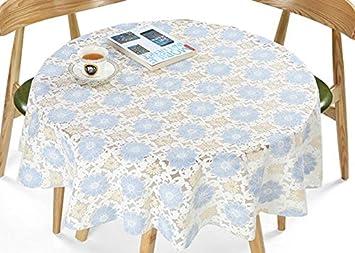 Pastoral plstico Mantel impermeable PVC funda para mesa redonda