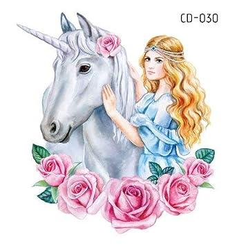 Unicornio tatuajes temporales,Hotott Estilos de purpurina para ...