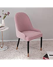 Dining Chair Cover, Removable Spill-Proof Modern Curved Back Wingback Leisure Chair Accent Chair Cover Dining Room Furniture Protector Universal Size