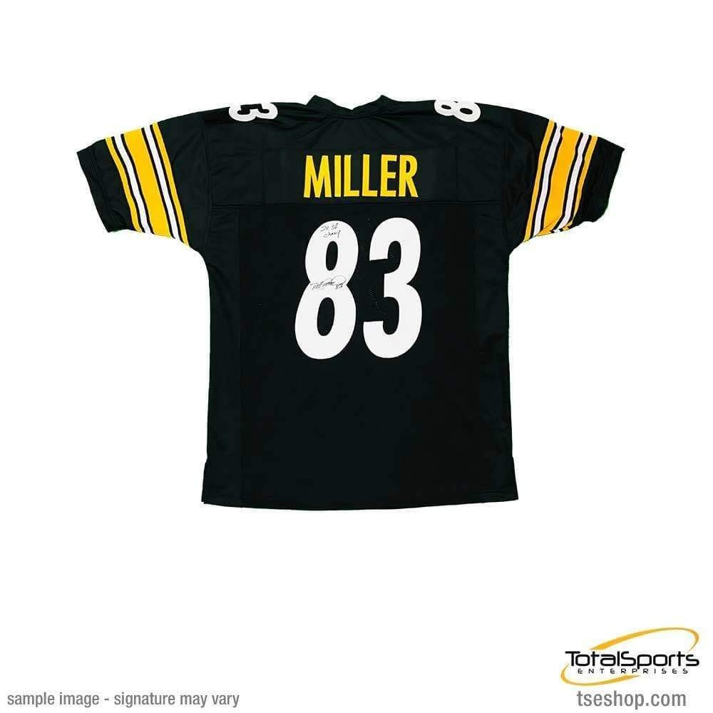 5c55d1a5a Heath Miller Autographed Signed Black Custom Jersey inscribed 2X SB Champ -  Certified Authentic at Amazon s Sports Collectibles Store