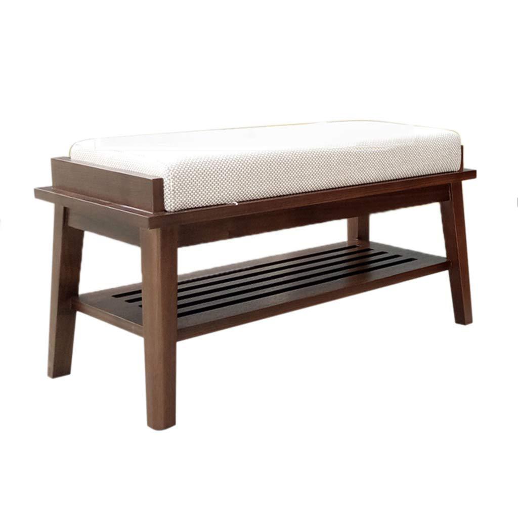Shangxiangtrade 純木の靴のベンチ、エントランスモールの簡単な靴の棚多機能収納スツール (サイズ : 60*35*35CM) B07TDXHZ6F  60*35*35CM