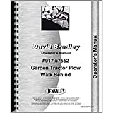 New David Bradley Plow Operators Manual
