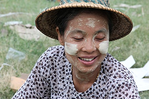 (Home Comforts Acrylic Face Mounted Prints Myanmar Burma Culture Tanaka Portrait Print 14 x 11. Worry Free Wall Installation - Shadow Mount is Included.)