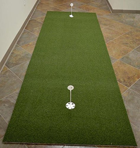 "4' x 12' True Roll Bent Grass 2 Cup Putting Green Training DVD & Impact Decals. Putting Greens with the ""True Feel of Bent Grass"". Practice & Improve Your Golf (12' Bent End)"