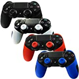 Pandaren Soft Silicone Thicker Half Skin Cover for PS4 /SLIM /PRO Controller Set (Skin X 4 + Thumb Grip X 8)(Black,White,Red,Blule) Review