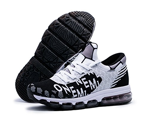 Women's Letter OneMix Cushion Air Sneakers Print Running White Black Men's Mesh RExwfq5x