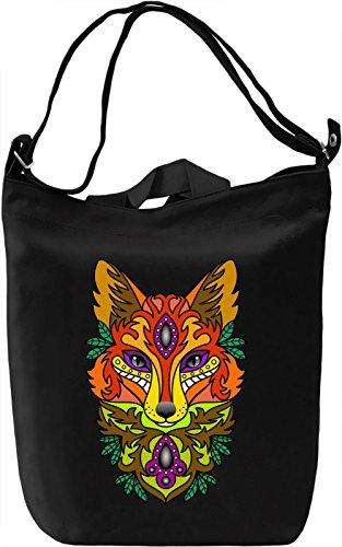 Fresh Fox Head Borsa Giornaliera Canvas Canvas Day Bag  100% Premium Cotton Canvas  DTG Printing 