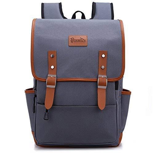 - ZEBELLA Laptop Backpack School Bag Travel Rucksack Waterproof Tear Resistant Gray