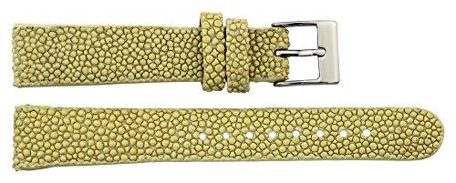 Galuchat Watch Strap - Moog Paris Beige Galuchat Watch Band, Pin Clasp, 16mm Strap B16011