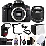 Canon EOS Rebel T6 18MP Digital SLR Camera with 18-55mm EF-IS STM Lens , SFD-740C Speedlite Flash and Accessory Bundle