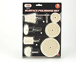 8PC Buffing and Polishing Kit For Metal Aluminum,Stainless Steel,Chrome,Jewelry,Wood,Plastic,Ceramic,Glass,etc
