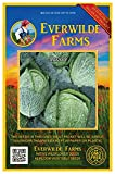 Everwilde Farms - 500 Savoy Cabbage Seeds - Gold Vault Jumbo Seed Packet