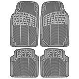 Custom Accessories 78856 Rubber Interior Floor Mat, Grey, 4-Piece