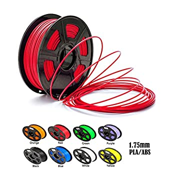 Aimple ABS 3D Printer Filament 1.75 mm Red 1kg(2.2Lbs)/Spool-Dimensional Accuracy +/-0.02mm