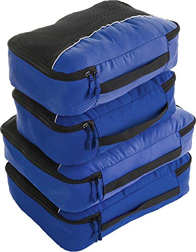 Bago 4 Set Packing Cubes for Travel – Luggage & Suitcase Organizer – Cube Set