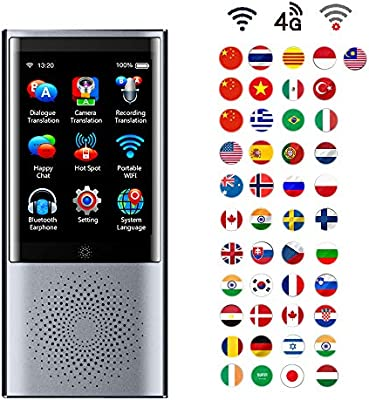 Ai Intelligent Traducteur Portable La Langue Traduction Dispositif Prend En Charge 4g Réseau Photo Transcription Et Hors Ligne Traduction 45 Langues