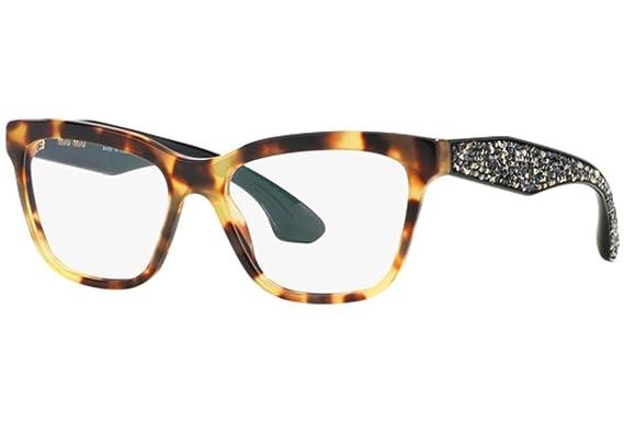 432edea9cd63 MIU MIU MU 07NV Eyeglasses 7S01O1 Havana 53-16-145  Amazon.co.uk  Clothing