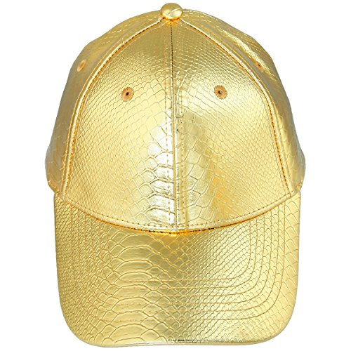 - Samtree Unisex Baseball Cap,Adjustable PU Leather Corduroy Sun Protection Sport Hat(02-Gold(Leather))
