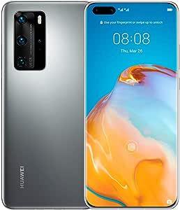 "Huawei P40 Pro 5G 6.58"" Dual SIM 256GB 8GB RAM (GSM Only, No CDMA) International Version - No Google Play No Warranty (Silver Frost)"