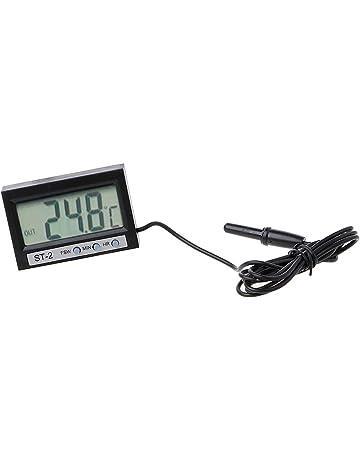 Moto Termometro Digitale Temperatura dellAcqua Igrometro Digitale Misuratore di Temperatura Keenso Termometro Moto Digitale Blu