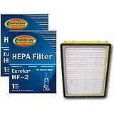 (2) Eureka HF2 Hepa Pleated Filter HF-2 Eureka Upright Ultra Smart, Boss, Omega, UltraSmart Vac Cyclonic, Whirlwind…
