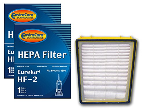 (EnviroCare Replacement Vacuum HEPA Filters for Eureka HF-2 Ultra Smart, Boss, Omega, UltraSmart Vac Cyclonic, Whirlwind Uprights 2 Filters)
