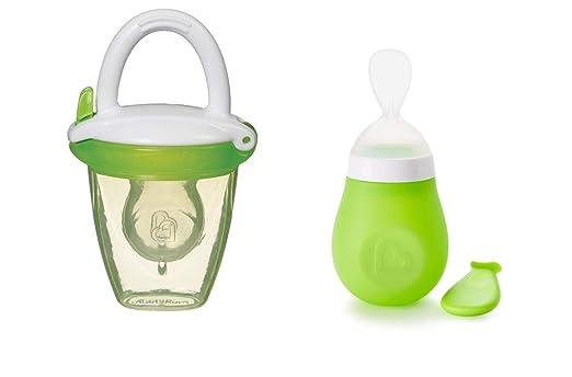 Munchkin Baby Feeding Bundle Squeeze Presser Cuchara y alimentador ...