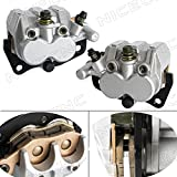NICECNC Front Right & Left Brake Caliper With Pads for YAMAHA UTV RHINO 660 2004-2009 RHINO 450 2006-2009 RHINO 700 2008-2013 SUZUKI BURGMAN AN400 2007-2011