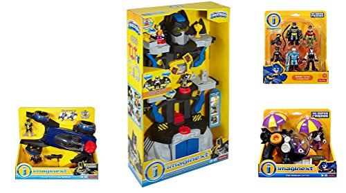 Fisher Price Imaginext Transforming Batcave Ultimate Set with Batmobile, Penguin Copter & Heroes and Villians Pack