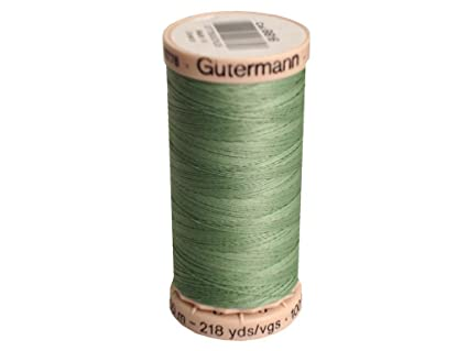 Gutermann Colorful Cotton 50 Mercerized Quilting Thread Set 10 x 100m Reels with Wonder Clips