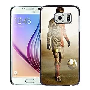 NEW Unique Custom Designed Samsung Galaxy S6 Phone Case With Lionel Messi FC Barcelona Grunge Texture_Black Phone Case Kimberly Kurzendoerfer