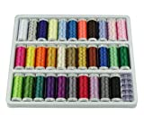 Simthread 32 Spool Vivid Colors Polyester Embroidery Machine Thread Set for Brother Babylock Janome Singer Pfaff Husqvarna Bernina Machines