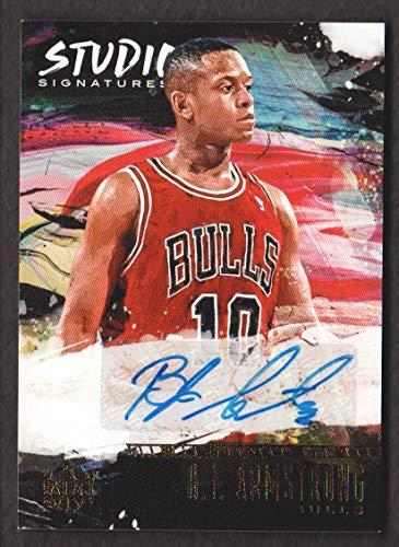2018-19 Court Kings Basketball Studio Signatures ST-BJA B.J. Armstrong Auto /149