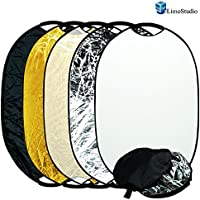 LimoStudio Photography Photo Studio 24 x 36 New Handheld 5-in-1 Collapsible Lighting Reflector Oval Panel Board Disc, AGG1488
