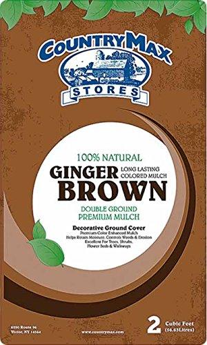 - CountryMax Ginger Brown Premium Hardwood Mulch, 2 Cu. Ft.