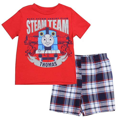 Thomas and Friends Little Boys' Toddler Steam Team Shorts Set (3T) (Thomas The Train Table Cloth)