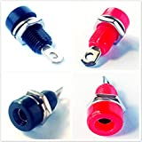4 Pack CESS 4mm Speaker Banana Female Jack Socket Panel/Chassis Mount