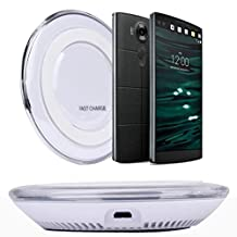 Bessky® 2015 Qi Wireless Charger Charging Pad for LG V10 G4 G3 Nexus 4 5 7 Other Qi Phone (White)