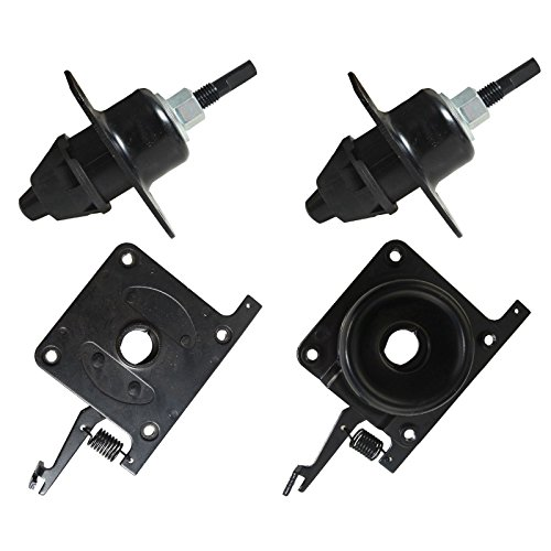 BLACKHORSE-RACING Upper & Lower Latches Hood Latche Release Set for Volvo White Truck VN, VNL(#20498998) (#20565619) (#8074938) - Latch Upper Hood