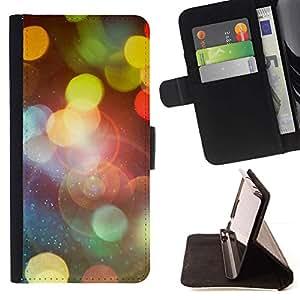 Momo Phone Case / Flip Funda de Cuero Case Cover - Bokeh Luces;;;;;;;; - Samsung ALPHA G850