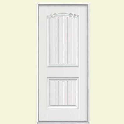 Masonite Cheyenne 2 Panel Primed Smooth Fiberglass Entry Door With