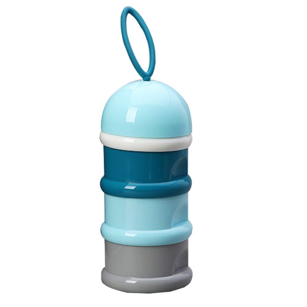 Non-Spill Sä uglingsmilchpulver Spender, Imbisse Kasten bewegliche Behä lter Flasche, Gestapelt Werden Kann 3 Schicht fü r die im Freien, Spielraum(Blau) vientiane