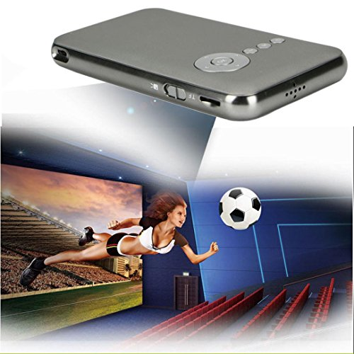 Mini Projector, Ikevan Android Projector Ultra-Thin Home Theater Mini Portable Wifi Smart DLP Projector (Grey) by Ikevan (Image #3)