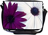 work sharp carrying bag - Rikki Knight Sharp Color Purple and White Daisies Design Premium Messenger Bag - School Bag - Laptop Bag - with padded insert for School or Work - With Matching Pencil Case