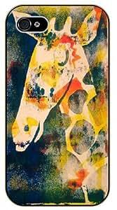 "iPhone 6 (4.7"") Grunge Giraffe painting - black plastic case / Animals and Nature By SHURELOCK TM"
